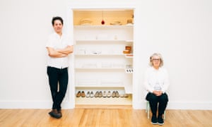 """Alex Kalman and his mother, the artist Maira Kalman, with the installation """"Sara Berman's Closet"""" at the Metropolitan Museum of Art in New York.Alex Kalman and his mother, the artist Maira Kalman, with the installation """"Sara Berman's Closet"""" at the Metropolitan Museum of Art in New York, Feb. 27, 2017. Kalman gives the public a view of her mother's life through the modest closet. (Andrew White/The New York Times) Credit: New York Times / Redux / eyevine For further information please contact eyevine tel: +44 (0) 20 8709 8709 e-mail: info@eyevine.com www.eyevine.com"""