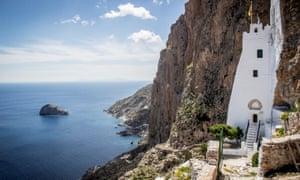 Holy ground … the monastery of Panagia Chozoviotisa on Amorgos is nearly 1,000 years old.