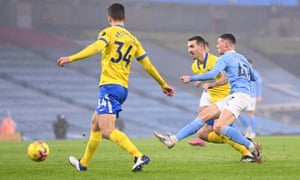 Phil Foden fires the opener.