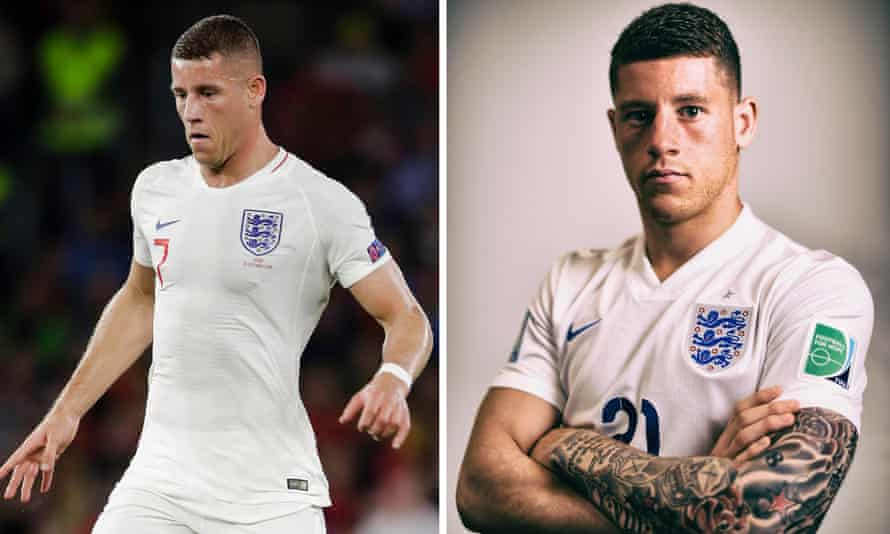 England player Ross Barkley has had his tattoos removed.