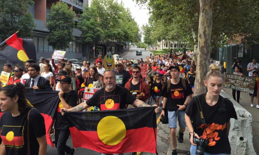The Invasion Day march in Sydney, 2016