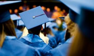 Students at a university graduation