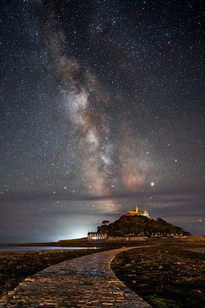 Milky Way meets St Michael's Mount, Marazion, Cornwall