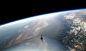 A view from Virgin Galactic's SpaceShipTwo during a test flight last week over California last week. An Australian astronaut has been critical of Sir Richard Branson's space tourism bid.