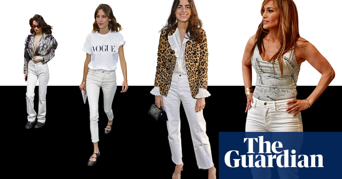 a9c286d7 All white now: the great white jeans revival | Fashion | The Guardian