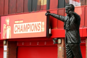 The Bill Shankly statue outside Anfield.
