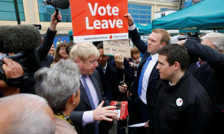 Boris Johnson campaigns for Vote Leave in Truro, Cornwall.