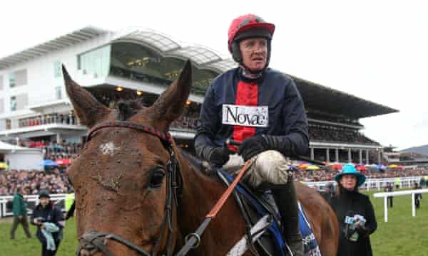 Barry Geraghty won the Gold Cup on Bobs Worth in 2013, but his thoughts were with injured jockey JT McNamara.