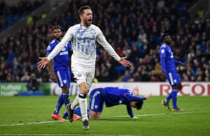 Gylfi Sigurdsson celebrates after drilling in the opening goal.