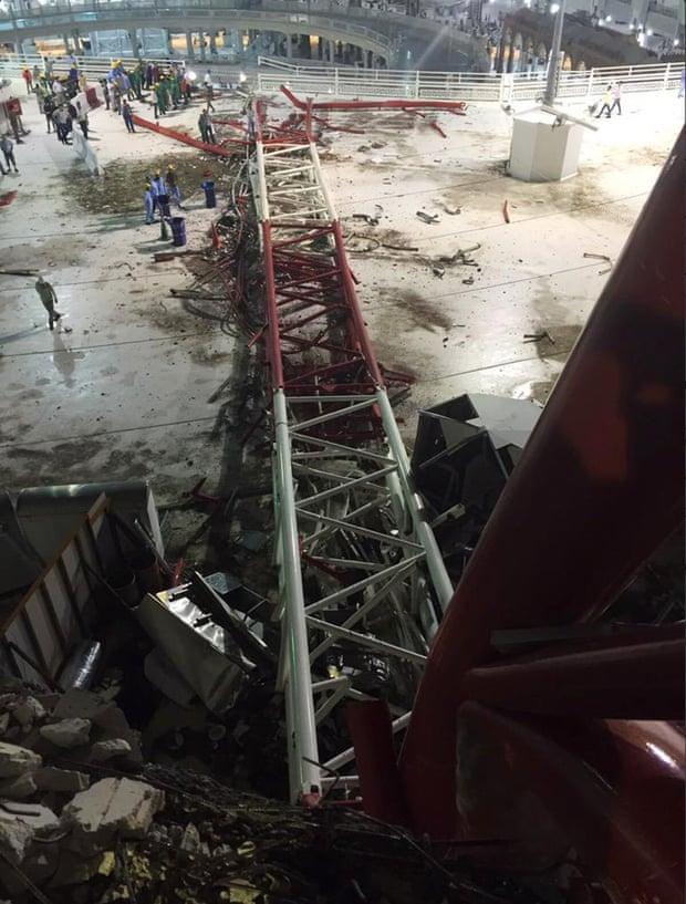 تصاویر و جزئیات طوفان شدید در مکه مکرمه