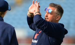 Darren Gough, pictured in England training at Headingley in 2017, is not expected to be a contender for a full-time coaching role due to his broadcasting commitments.
