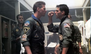 The face of the 80s … Tom Cruise, right, with Val Kilmer in Top Gun (1986)