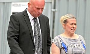 Paul Roberts and Deborah Briton attend court.