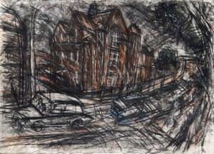 School Building, Willesden, 1983, by Leon Kossoff