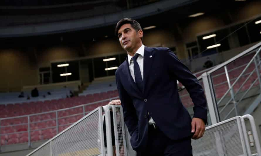 Paulo Fonseca as Roma manager in May 2021
