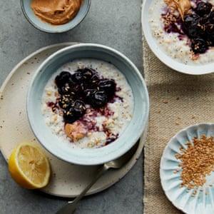 Anna Jones' creamy porridge with cherries and cashew butter