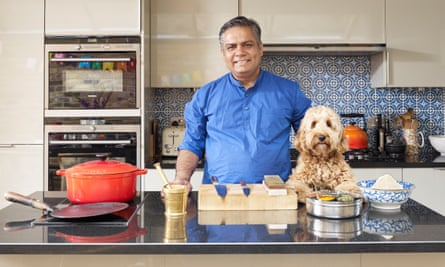 Vivek Singh in his kitchen