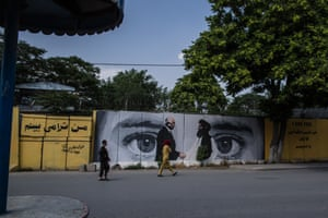 """I see you"", the mural reads, depicting US special envoy Zalmay Khalilzad and Taliban political chief Mullah Abdul Ghani Baradar, who signed the agreement towards peace betweent the US and the militant group."