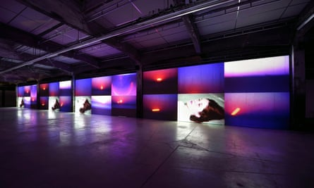 Corsican artist Ange Leccia's exhibition of video works at Nantes' HAB Galerie.