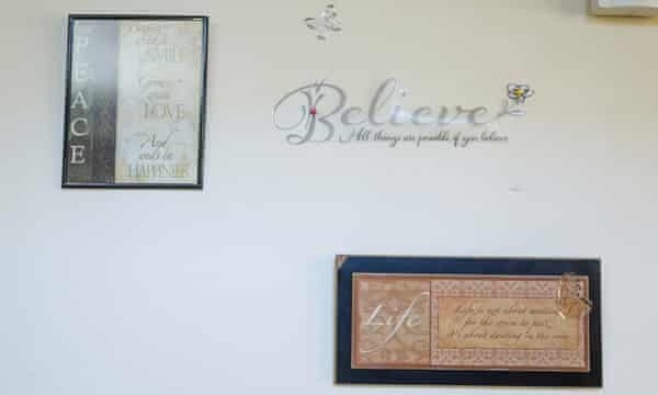 A wall in the home of Reba and her two granddaughters.