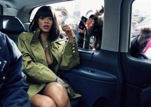 Rihanna … En route to Balmain show, Paris, 2014.