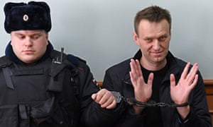 Alexei Navalny after his latest arrest.