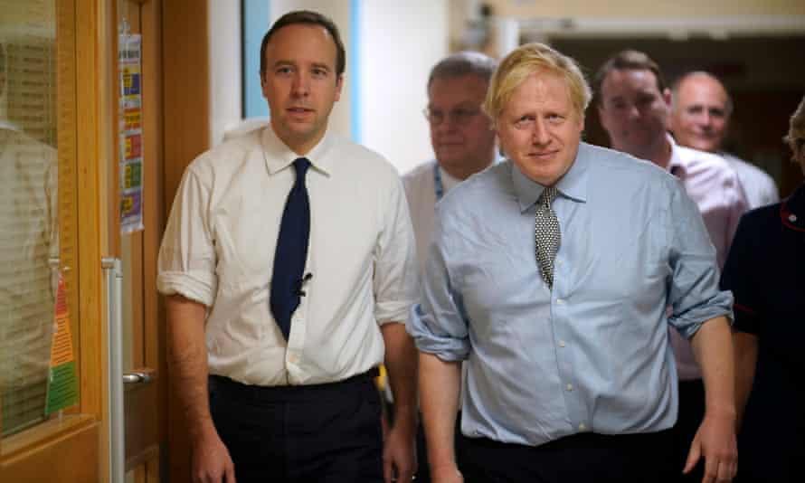 Matt Hancock with Boris Johnson