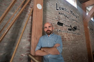"""Kevin Brady, the director of Lowell Cafe in West Hollywood, wanted to build a """"bright, airy oasis"""" where people can consume cannabis."""