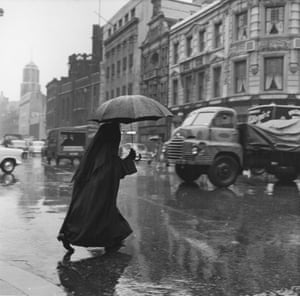 Nun with a brolly, Salford