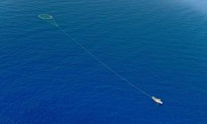 A tuna-fishing boat in the Mediterranean.