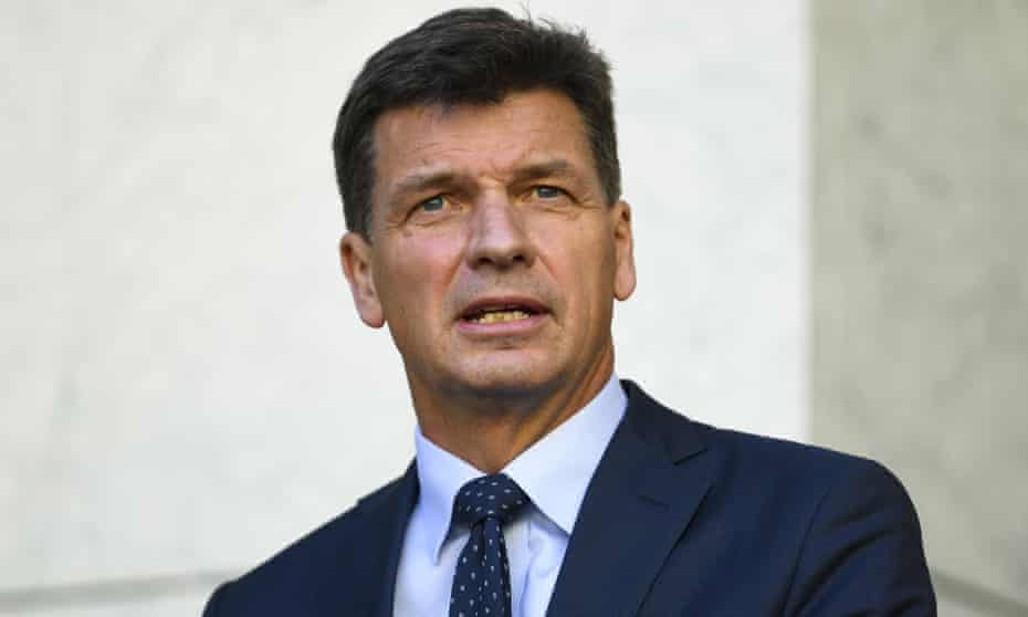 Federal energy minister and emissions reduction minister Angus Taylor