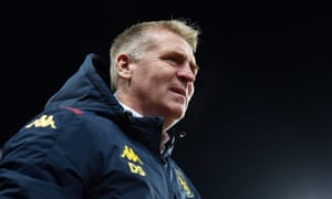 Dean Smith led Aston Villa to Premier League safety on the final day of the last campaign but says: 'We won't be happy just hanging on this season.'