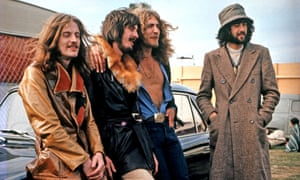 Led Zeppelin … at the Bath festival in June 1970.