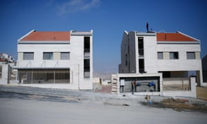Israeli settlements under construction in Palestinian lands in Jerusalem.