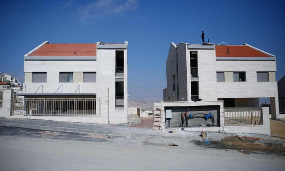 Israeli settlements under construction in Palestinian lands in Jerusalem.