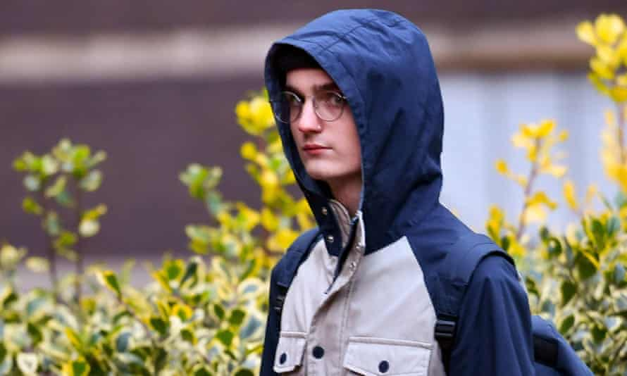 Connor Scothern arriving at court in December.