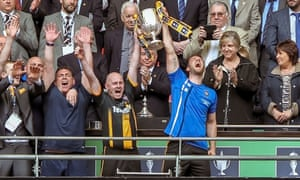Morpeth Town lift the FA Vase after beating Hereford FC 4-1 in the final at Wembley.
