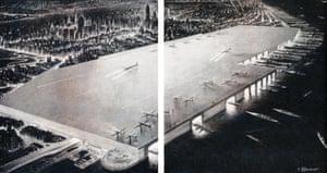 Rooftop airport, William Zeckendorf, 1945