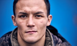 Josh Warrington's twin daughters were born in the runup to the May fight, and he says he held his wife for longer than usual before the bout.