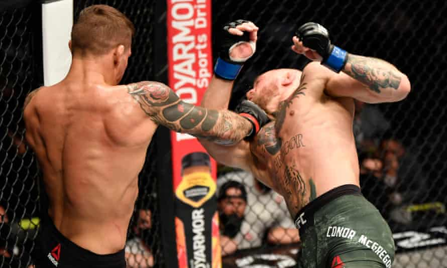 Dustin Poirier blasts Conor McGregor in Abu Dhabi to plot new UFC title  shot   UFC   The Guardian