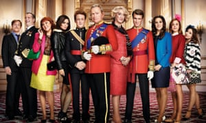 The Windsors, starring Harry Enfield and Hadyn Gwynne (centre), begins on Channel 4 on 6 May.
