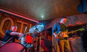 Joe Dilworth and Tim Gane of Cavern of Anti-Matter at London's Moth Club.