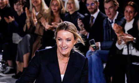 Anya Hindmarch at her show on Tuesday.