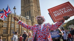 Pro-Brexit supporters outside the Houses of Parliament on 29 March, 2019.