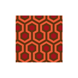 Inspired by the carpet in Overlook hotel in Stanley Kubrick's The Shining Torrance vinyl flooring, £48/m, forthefloorandmore.com