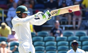 Usman Khawaja made an unbeaten century as Australia batted Sri Lanka out of contention on day three of the second Test.