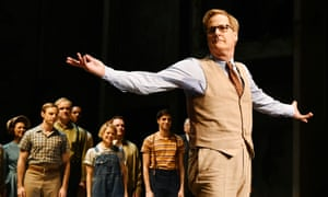 Jeff Daniels takes a curtain call for the Broadway production of To Kill a Mockingbird