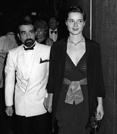 With then husband Martin Scorsese in 1981 in New York.