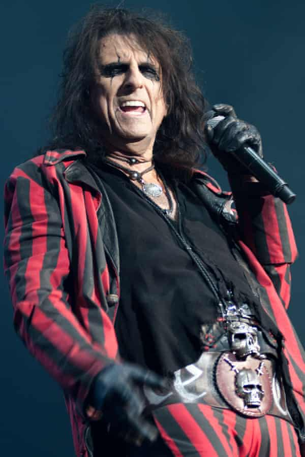 Alice Cooper on stage in Plymouth.