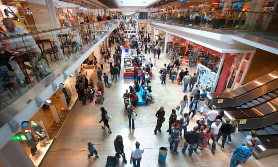 A shopping mall in Stockholm. Cash is used for only about a fifth of all transactions in shops.